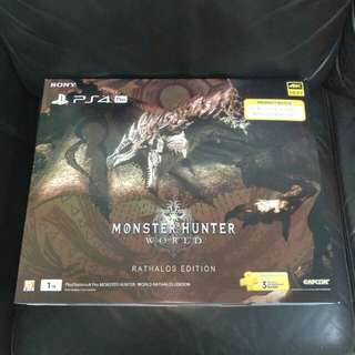 BNIB Monster Hunter World Rathalos Edition PS4 Pro Console