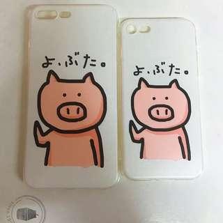 Iphone 7/7+ phone case 小豬情侶case