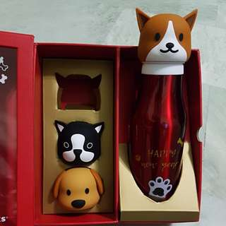 China 2018 Starbucks Chinese New Year Dog Reunion Tumbler Gift Box