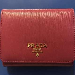 Prada 三摺短銀包 100%new & real