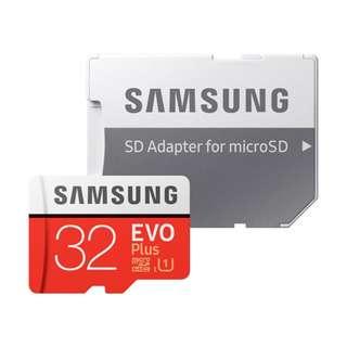 [Free Shipping] SAMSUNG EVO Plus 100MB/s U3 4K Class 10 Micro SD 32GB SDXC