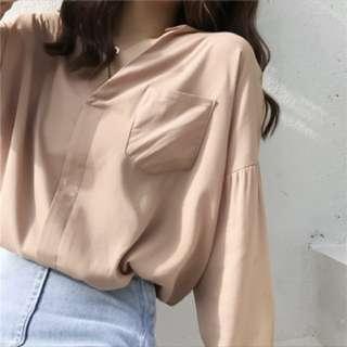 駝色襯衫(全新)