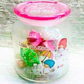 Sanrio 2005 絕版罕有 Little Twin Stars 玻璃瓶 擺設