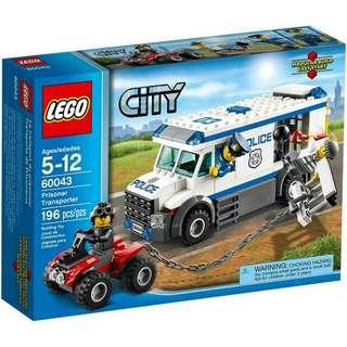 全新Lego 60043 Prisoner Transporter