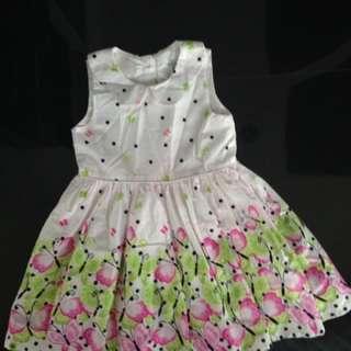 Butterfly print dress made in Turkey