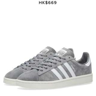 Adidas campus 鞋 灰色