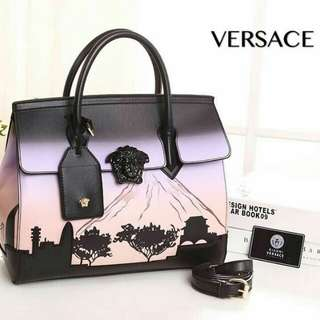 Versace Tote Bag Light Purple Color