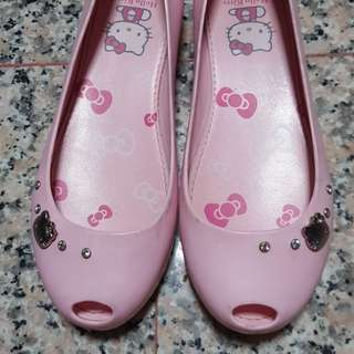 Preloved Hello Kitty Pink Jelly shoes