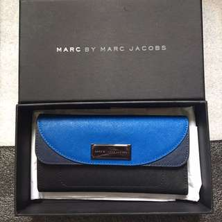 Marc by Marc Jacobs 黑藍長銀包