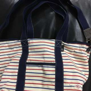 Mammy Roo RooTote Blue & Red Striped Diaper Bag