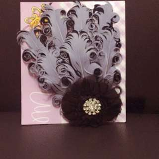 QQ Beautiful peacock feather hairband Baby