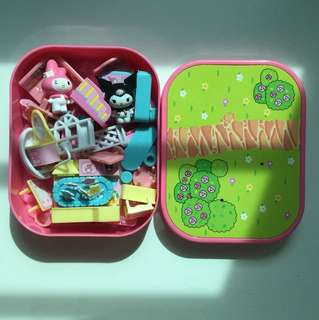 Sanrio My Melody toy figurine house travel set