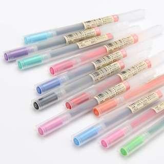 MUJI Gel Ink Pens (0.38 & 0.5)