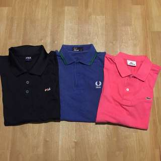 Fred Perry, Lacoste & Fila
