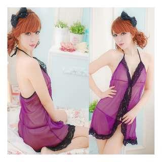 SYAG Purple Sexy Women Nightdress Lace Lingerie Sleepwear GS051 FREE POSS DELIVERY