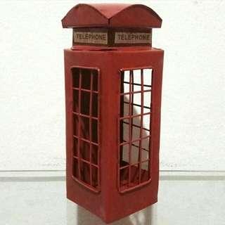 Pajangan Miniatur Telephone London A
