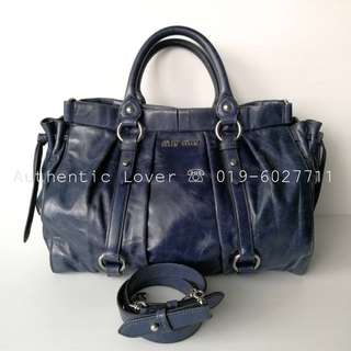 Excellent Condition Miu Miu Navy Calf Bag RT0383
