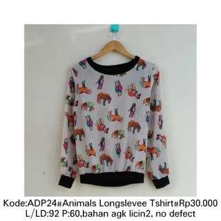 Animals longslevee T-shirt