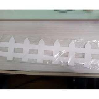 [全新]白色欄杆咭紙