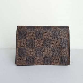 Good Condition Louis Vuitton Damier Ebene Card Holder