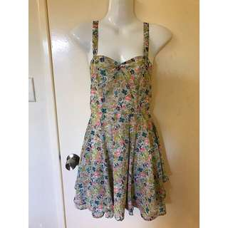 Living Doll floaty layered dress BNWT Size 10
