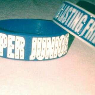 Super Junior Wristband - Gelang Biru