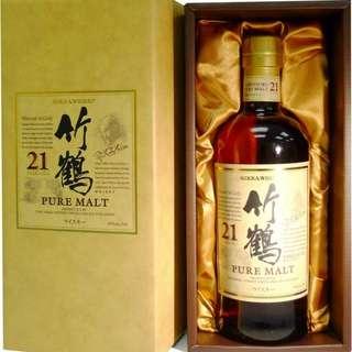 竹鶴 21年 禮盒裝