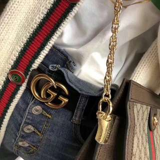 gucci GG insp leather belt
