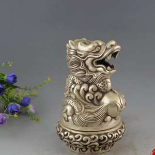 銀銅龍香爐