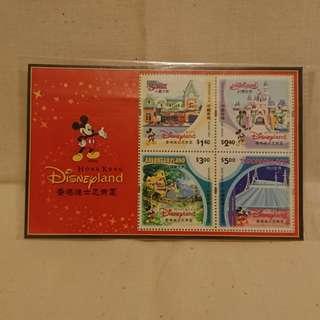 香港迪士尼樂園 郵票一套四張