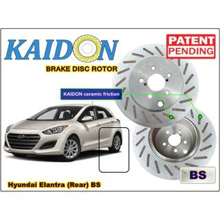 "Hyundai Elantra brake disc rotor KAIDON (REAR) type ""RS"" / ""BS"" spec"