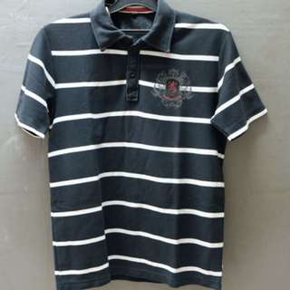 Polo stripes hitam