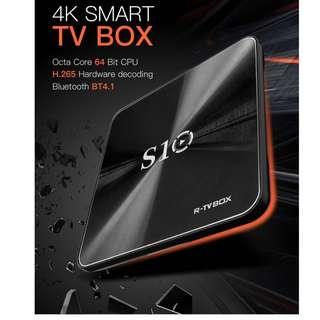 R-TV BOX S10 4K Android 7.1 OS Smart TV Box 3GB DDR4+32GB/64GB EMMC Amlogic 912 64bit Octa-core Bluetooth 4.1 Dual Band WIFI 2.4G/5.0G 1000M LAN OTG HD TV Set Top Box with Remote Control