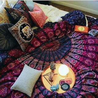 Mandala Tapestry w/ Pillowcases (Twin Size)