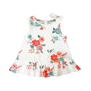 CNY - Cherry Blossom Soft Cotton Sleeveless Blouse (12-36M)