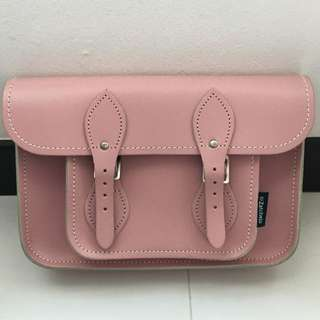 Pastel Pink Leather Satchel by Zatchel
