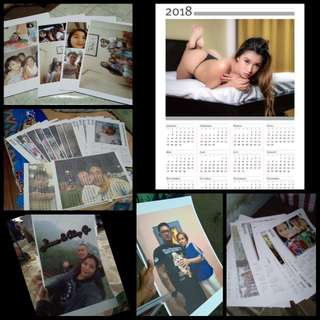 PERSONALIZED CALENDAR OR PICTURE FOR DISPLAY.