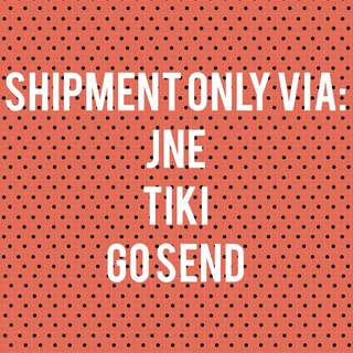 JNE/TIKI/GO SEND (ONLY)