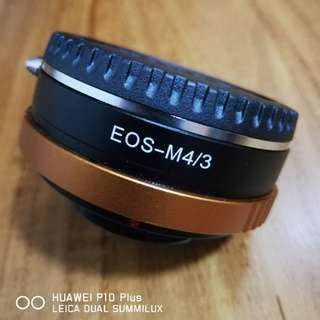 EOS TO M4/3 converter with apeature adjustment ring