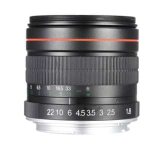 Lens 85mm f/1.8 Manual Focus