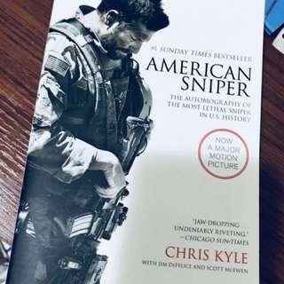 美國狙擊手American Snipper 95% new 自傳學英文書