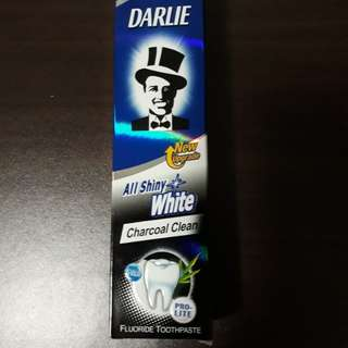 BNIB Darlie all shiny white charcoal clean