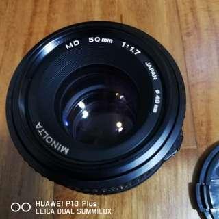 Minolta 50mm F1.7 MD mount lens