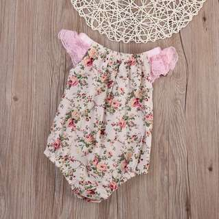 BNWT Romper with Lace details (Floral)