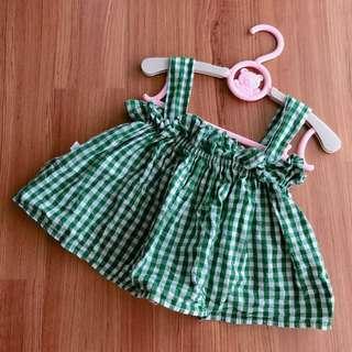 Fashion Plaid baby girl cute top