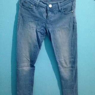 Celana jeans channel babyblue