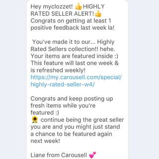 Thanks Carousell ❤️