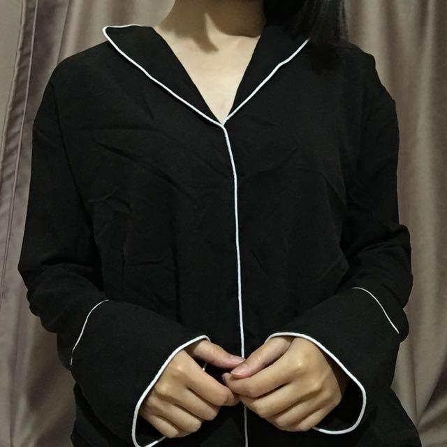 港味黑色襯衫