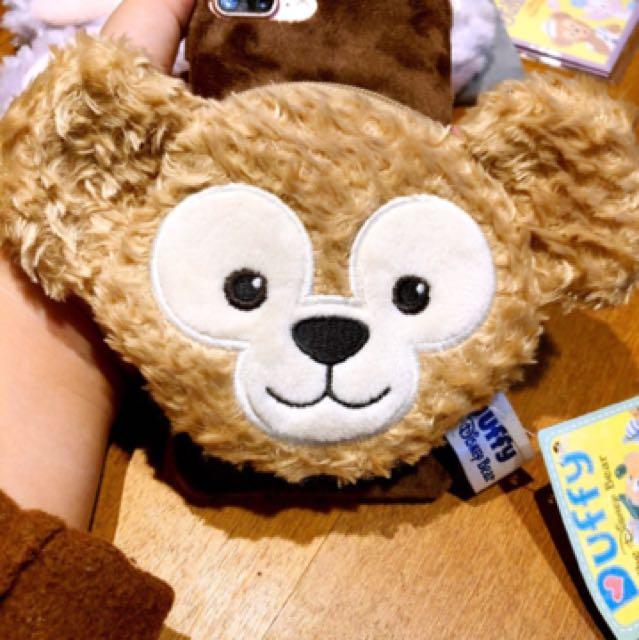 達菲熊 iPhone6/6s 手機殼#耳機收納包#毛絨零錢包