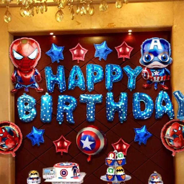 英雄聯盟 Marvel Happy Birthday 氣球套裝